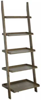 Driftwood Rustic Ladder Shelf Makes Decorating Easy