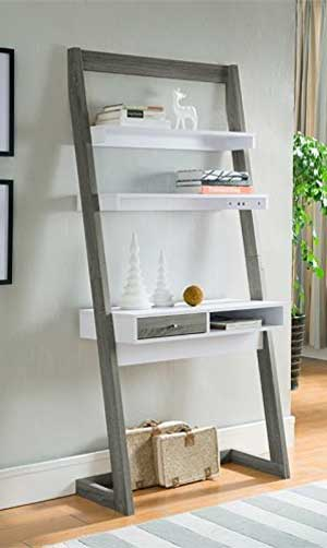 Ladder Shelf Desk The Perfect Small Space Solution